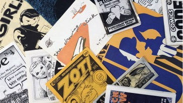 a collection of minicomics including work by david lasky, aleksander zograf, matt feazell, elizabeth watasin, tom motley and sean bieri