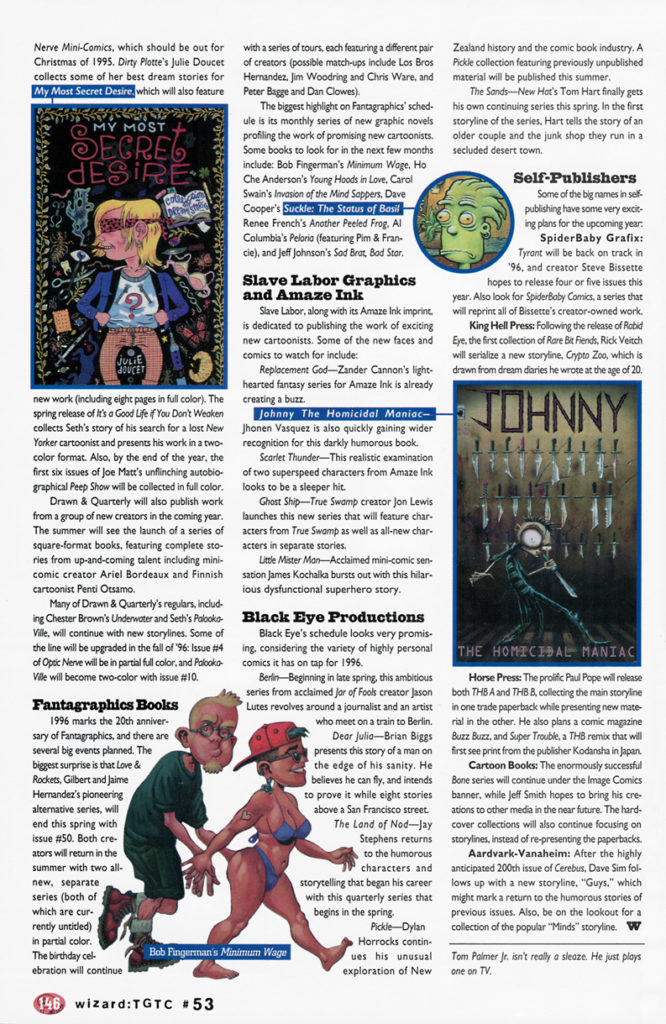 palmer's picks from wizard 53, including wizard 1996 preview