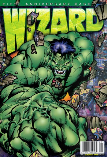 marvel comics' hulk by bart sears on the cover of wizar #60