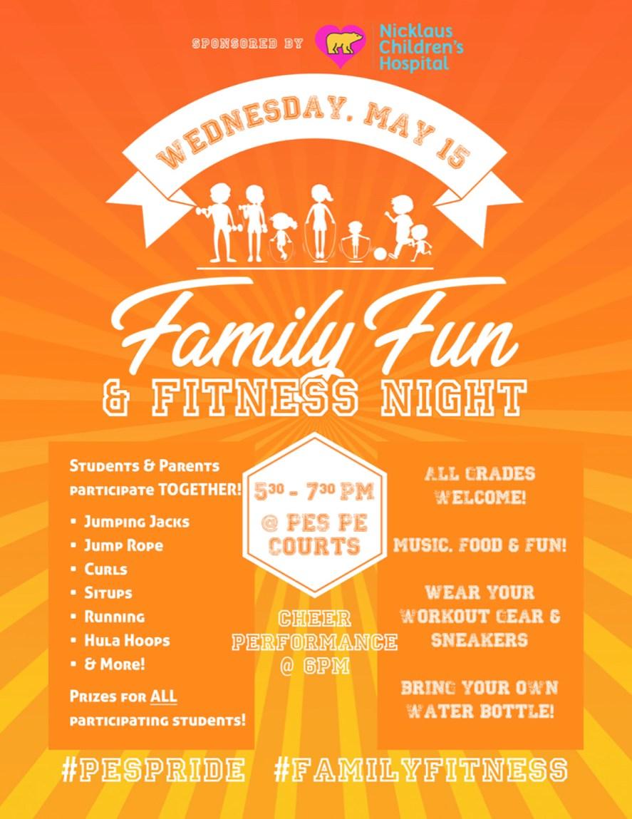Family Fitness Night Flier