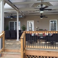 Cover your patio with a louvered roof that opens and closes.
