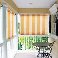 Drop down porch shades provide privacy, block heat and sun glare. They also add style to any front porch. Get your Downtown Greenville home styled by Palmetto Outdoor Spaces
