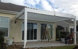 Premier Pergolas open and close. Let in the desired amount of sunlight.