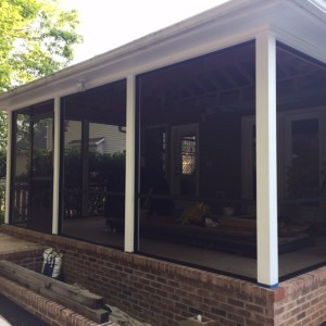 Palmetto Outdoor Spaces installed BetterVue Screen Mesh on this Simpsonville Porch.