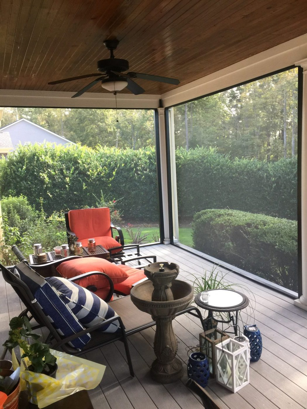 Large Span Screened Porch for Great Views to Yard