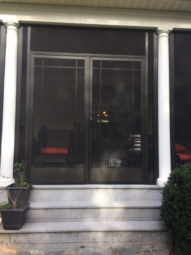 PCA French Screen Door on Porch with Columns in Greer