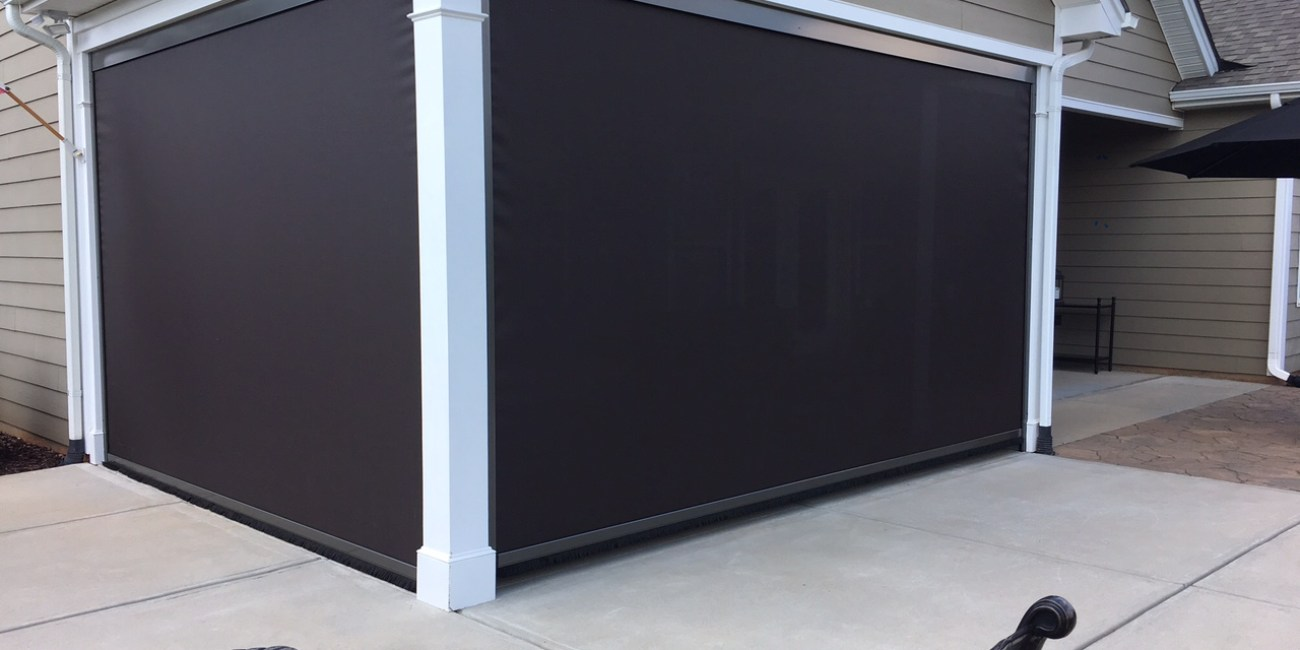 95 Block Solar Mesh Motorized Retractable Universal Screens in Charlotte NC