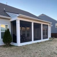 12 inch tall kickplate coil porch framing porch Screening Greer SC