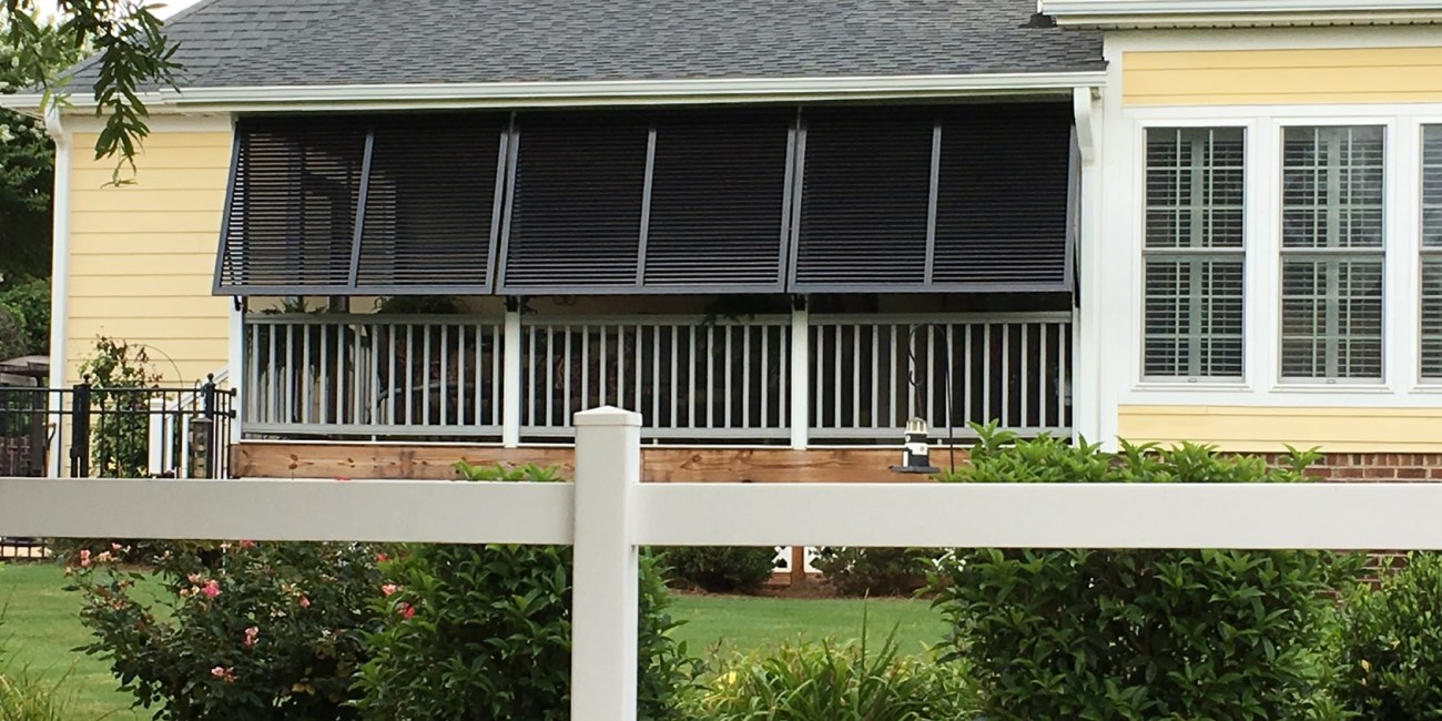 Bahama Porch Shutters Simpsonville - for Privacy