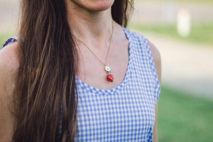 Kate Spade Strawberry Mini Pendant