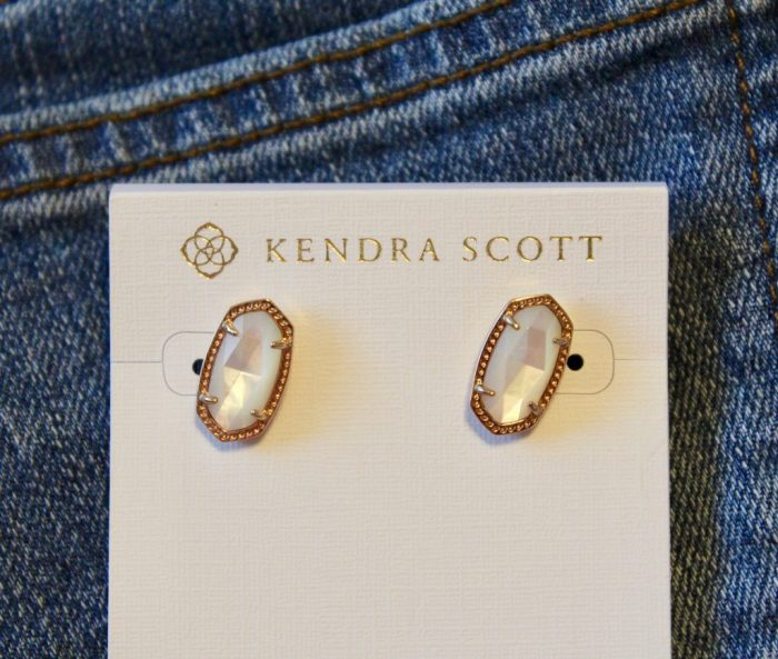 Kendra Scott Ivory Mother of Pearl Ellie Studs