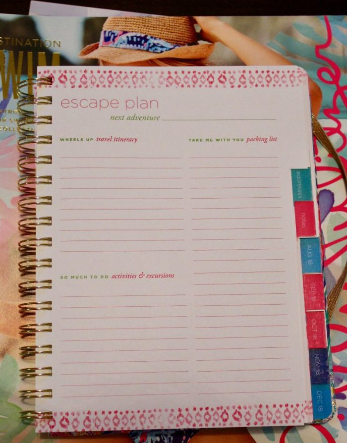 Lilly Agenda Vacation Planning Page