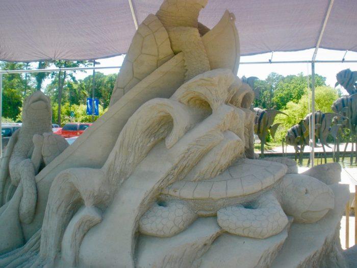 Sand Sculpture at NC Aquarium