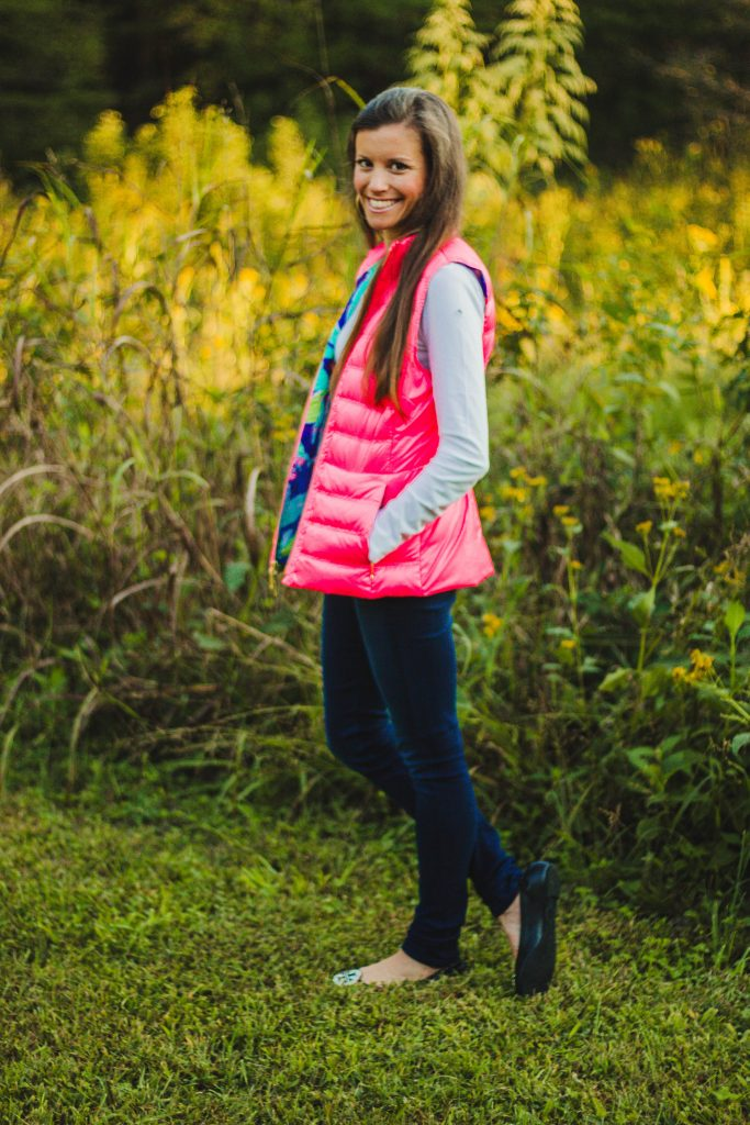 Lilly Pulitzer Puffer Vest with printed lining