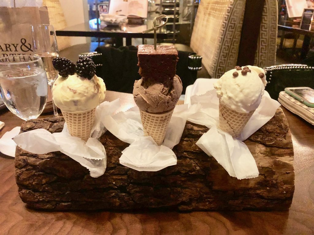 Homemade ice cream at City Club Raleigh