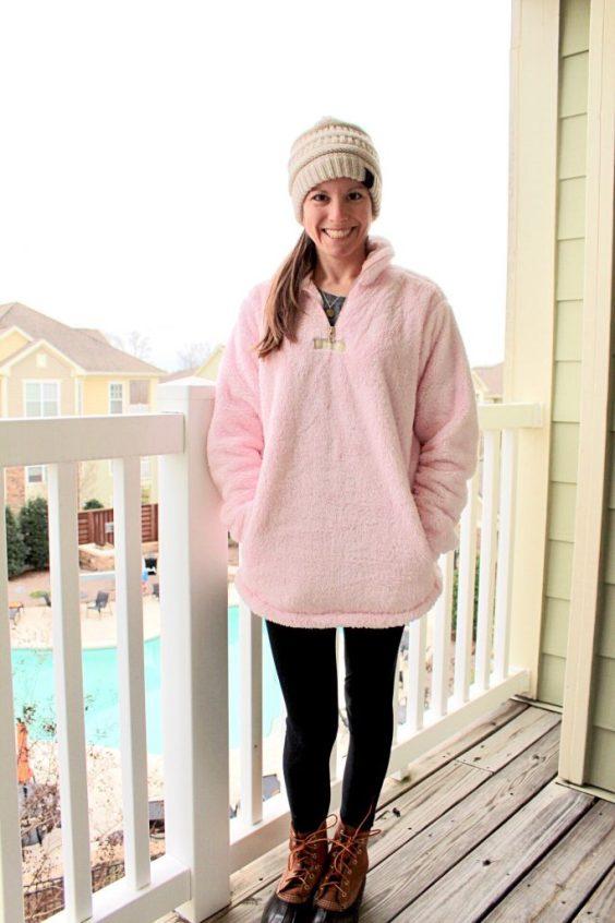 Lauren James Linden Sherpa Pullover