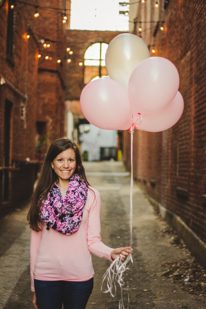 Pink balloon picture
