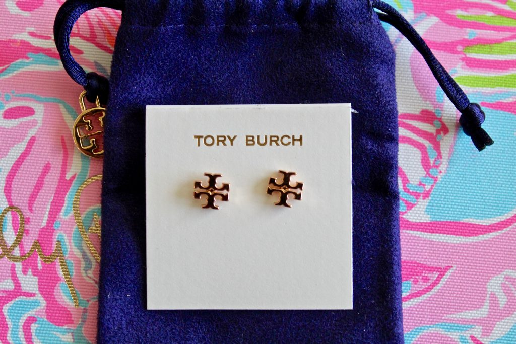 Rose Gold Tory Burch Logo Studs