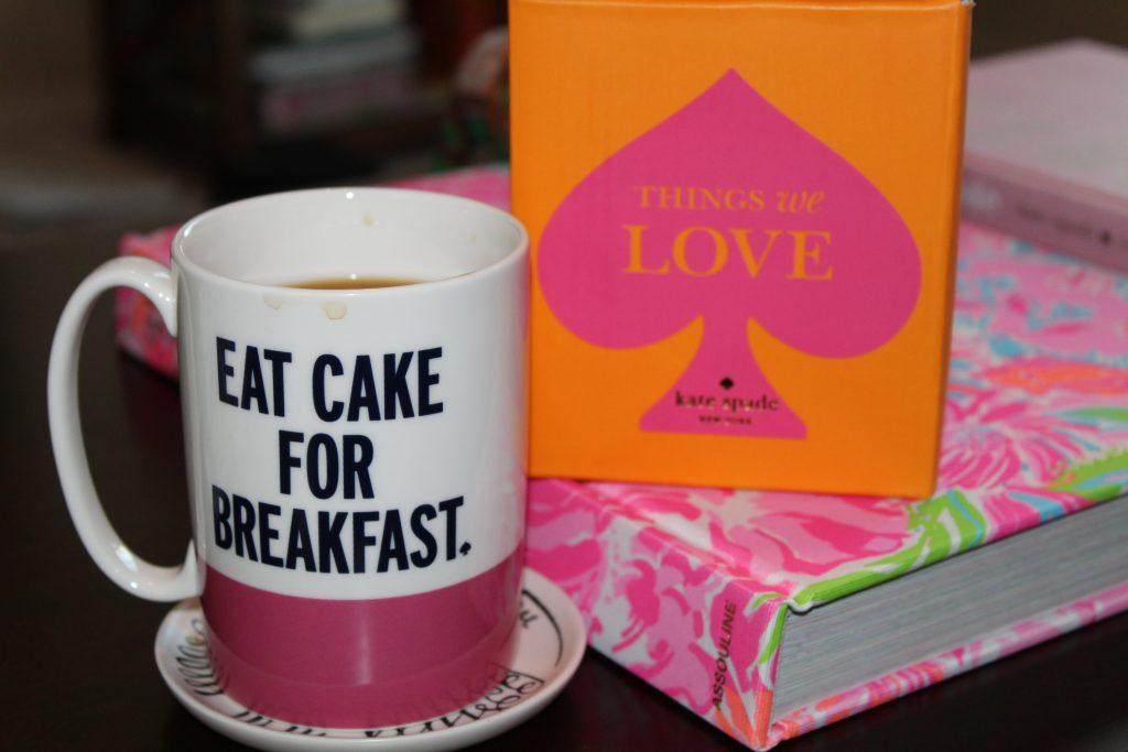 """Kate Spade """"Eat Cake for Breakfast"""" mug"""