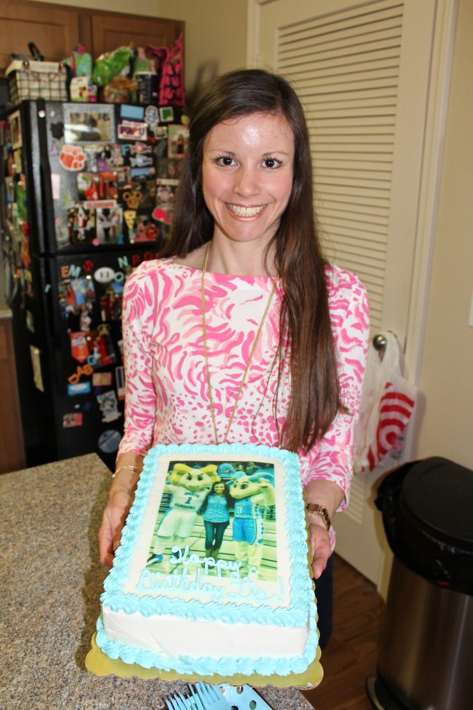 Lilly Pulitzer Top and Birthday Cake