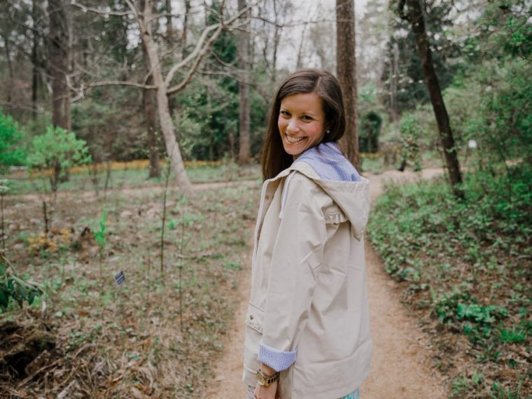 Lauren James Dottie Ruffle Raincoat