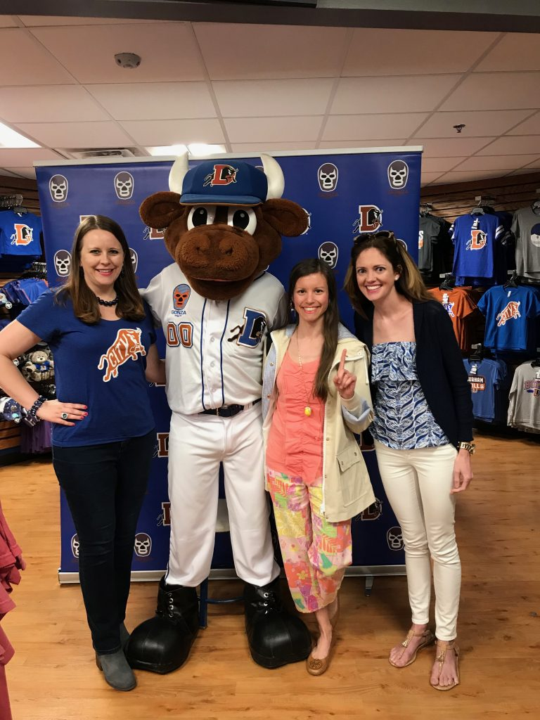 Wool E Bull at Durham Bulls Game