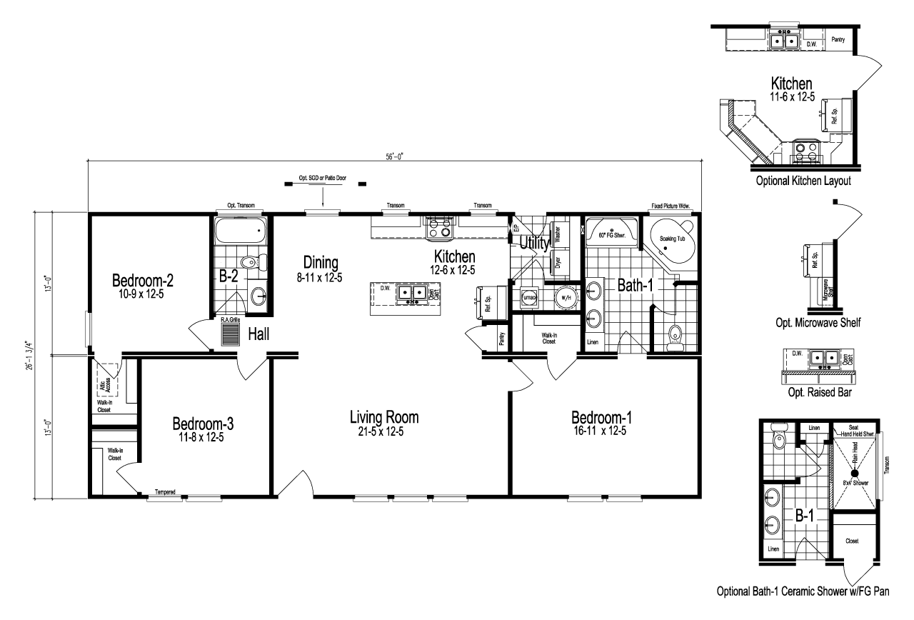 View The Bristol Floor Plan For A 1464 Sq Ft Palm Harbor