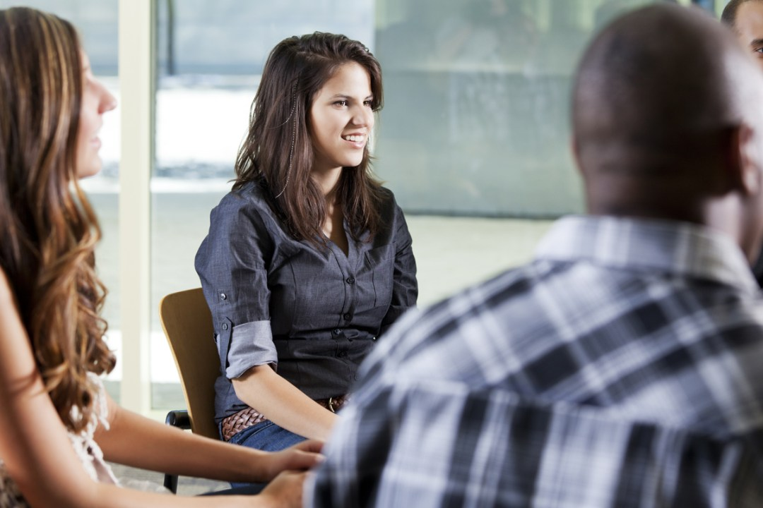 Clients of the partial hospitalization program in group therapy