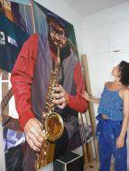 Saxofonista y yo