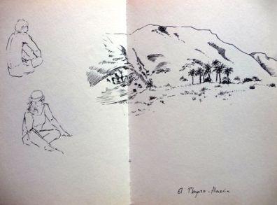 Dibujo del Playazo, Almería