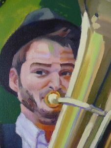 Pintura Jingle Django tuba