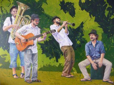 Acrilico y óleo Pintura Jingle Django
