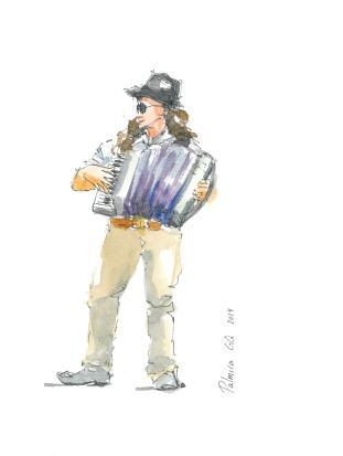 Street musicians. Músicos callejeros.