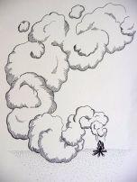Por el humo...
