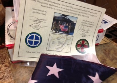 Thank you flag flown for CPP from Adam Valeski
