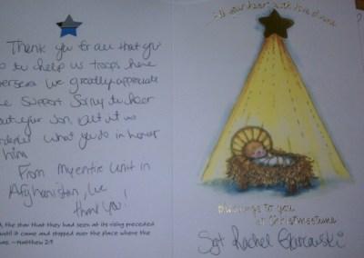 Christmas Card – Sgt. Rachel