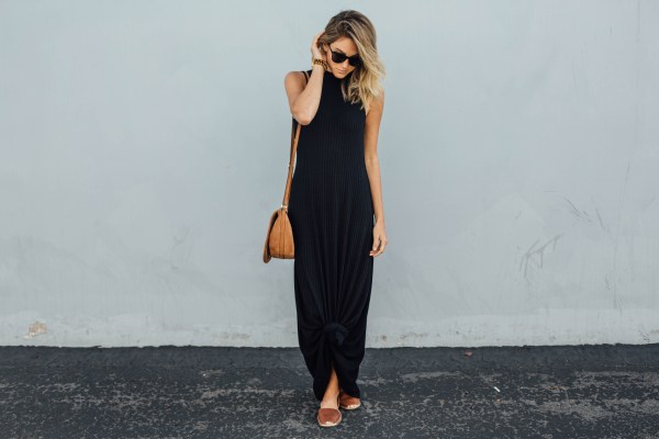 Black Ribbed Tank Dress | Palms to Pines