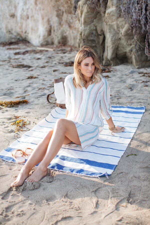 Zara Striped Linen Tunic | Palms to Pines