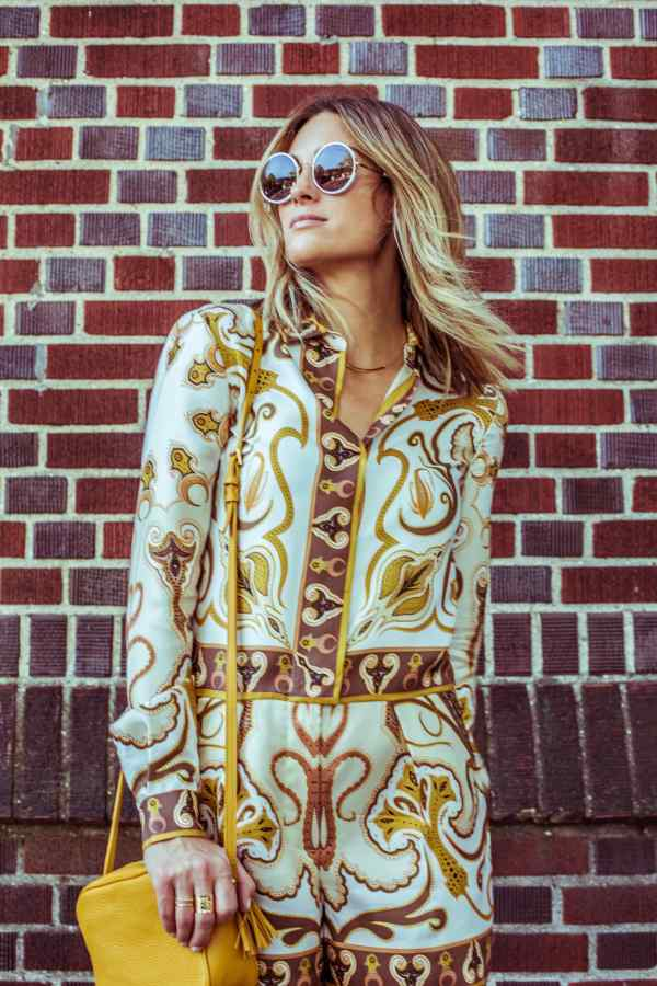 Rachel Zoe Christianne Paisley Romper | Robbie Masterson | Palms to PInes