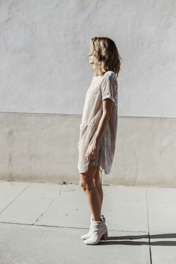 Anthropologie Crinkled Velvet Tunic Dress