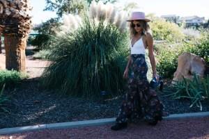 Maxi skirt on Jen Hawkins