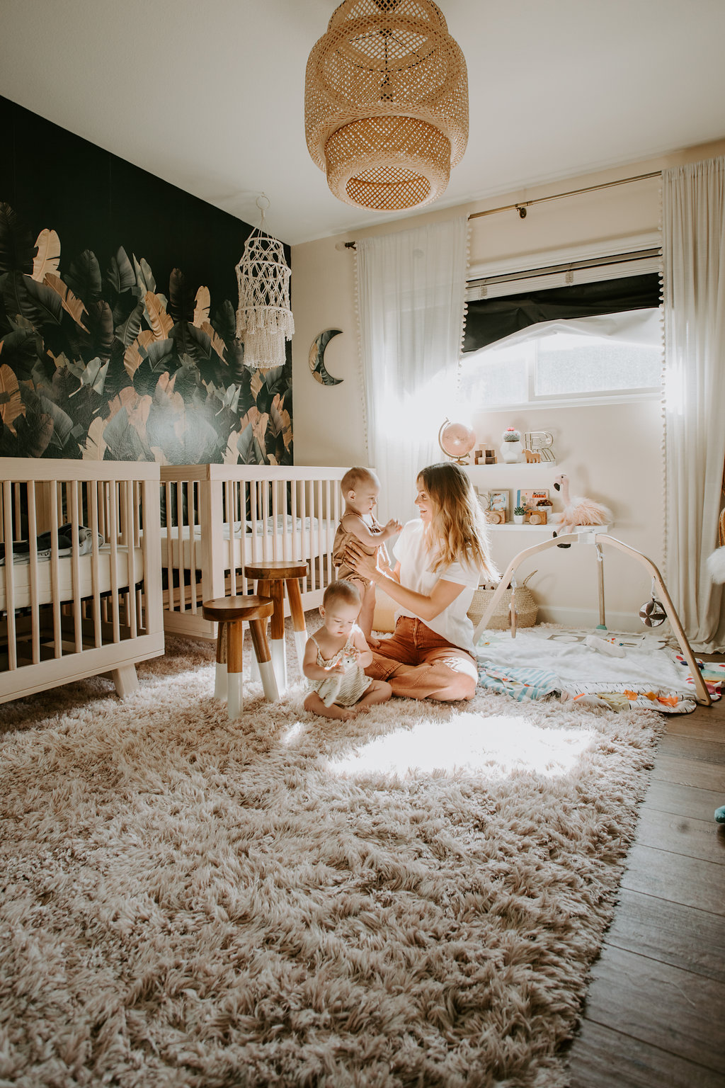 Melissa Gayle Photography   Palms to Pines   Romy and Piper Twin Girl Nursery