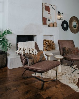 Walmart Home Fall Relaxed Ranch, stucco fireplace