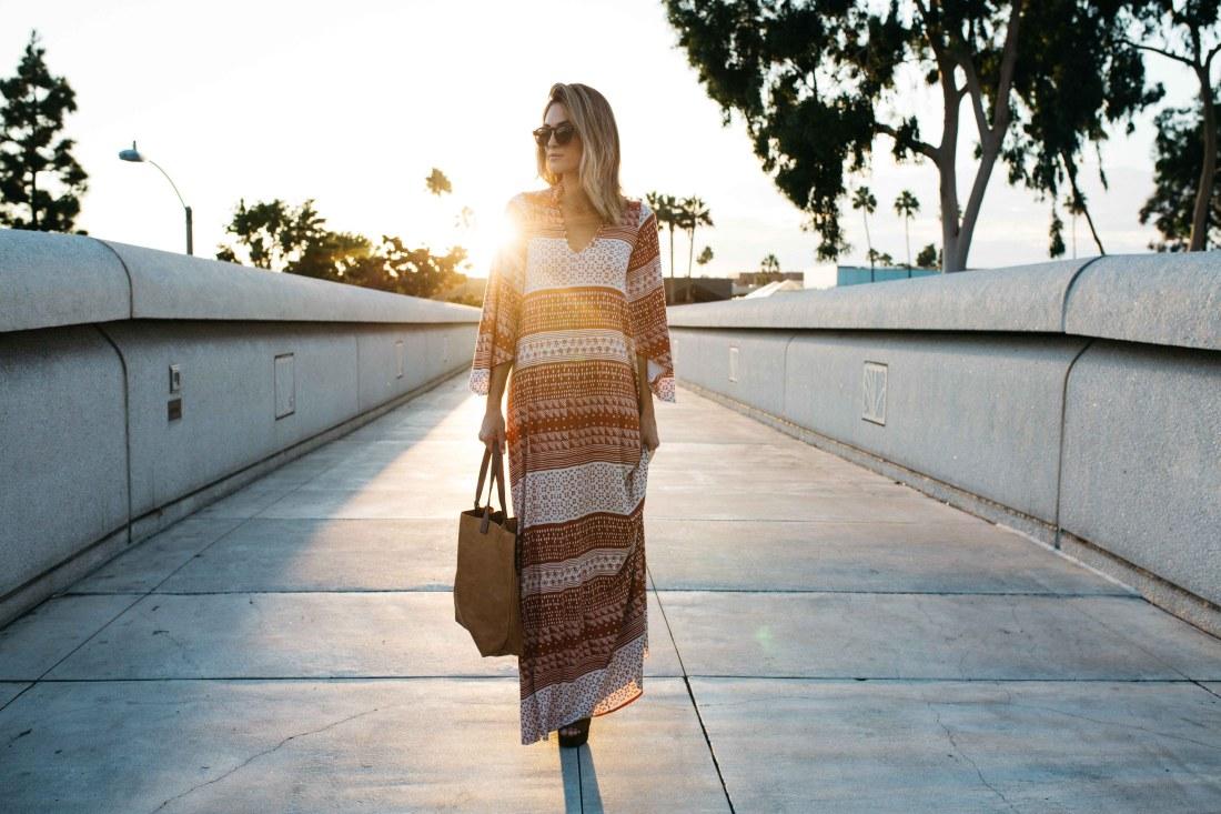 Rachel-Pally-Pajama Dress on Jen Hawkins