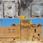 Destruction of the cela in the temple of Baal by Islamic State – before/after