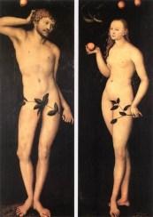 Adam and Eve, Lucas Cranach (1528)