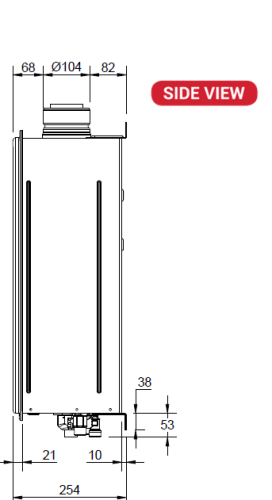 Paloma 27 litre side schematic