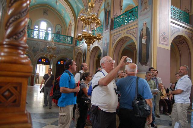 В Троицком соборе на Русском подворье. © Иерусалимское отделение ИППО