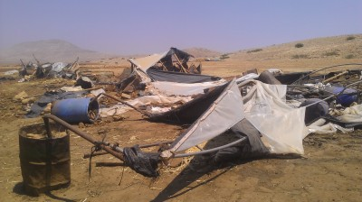 Demolished makeshift houses (Photo by ISM)