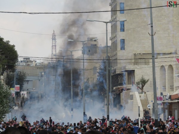 Excessive use of tear-gas by Israeli forces